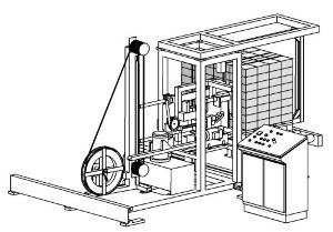 Páskovací automat pro příčné páskování tvárnic